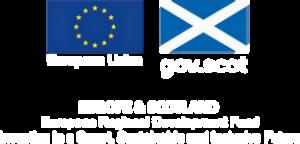 European Union gov.scot Europe and Scotland Euroopean Regional Development Fund Investing in a Smart, Sustainable and Inclusive Future logo